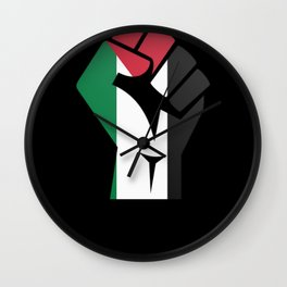 Freedom Palestine Free Gaza Middle East Wall Clock