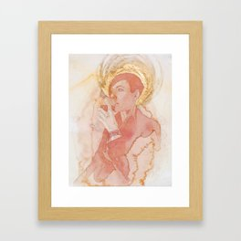 Self-portrait as Saint Pompette No. 2 Framed Art Print