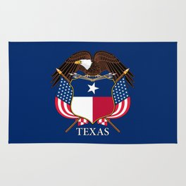 Texas flag and eagle crest - original concept and design by BruceStanfieldArtist Rug