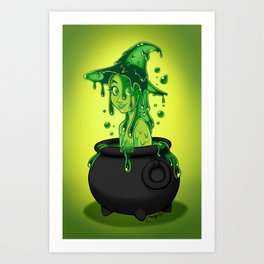 potion witch  Art Print