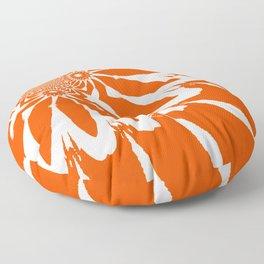 The Modern Flower Orange Floor Pillow