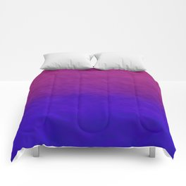 Deep Magenta Purple Ombre Watercolor Comforters