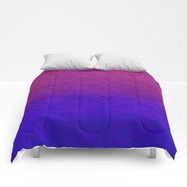 Deep Magenta Purple Ombre Watercolor Comforters