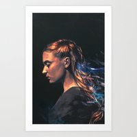 sansa Art Prints featuring Amethyst by Alice X. Zhang