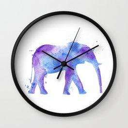 Watercolor Elephant Wall Clock