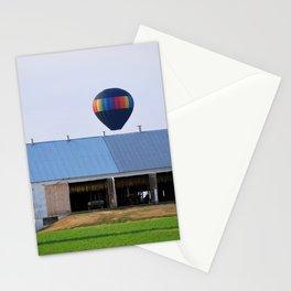 Hot Air Balloon at Farm Stationery Cards