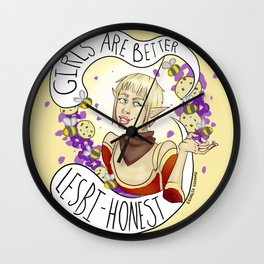 Never an agreeable girl. Wall Clock