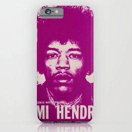 1969 Jimi Hendrix Concert Handbill Poster, Will Rogers Colosseum, Ft. Worth, Texas iPhone Case