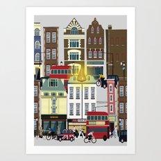 Seven Noses of London Soho Art Print
