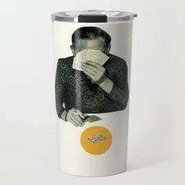 Poker Face Travel Mug