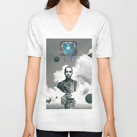 window V-neck T-shirts featuring Window by Justin Kikunga