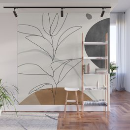 Abstract Art /Minimal Plant Wall Mural