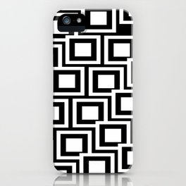 Black and White Squares Pattern 02 iPhone Case