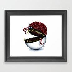 Evil pokeball  Framed Art Print