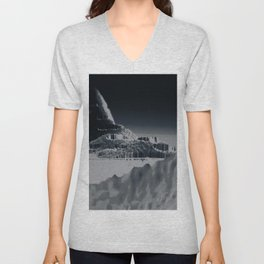 Mountain landscape illustration painting Unisex V-Neck
