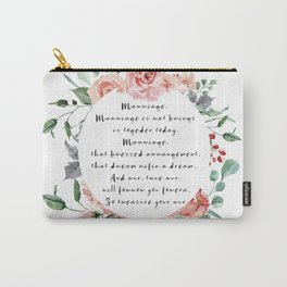Princess Bride Marriage Carry-All Pouch