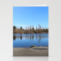 trout Stationery Cards featuring Trout Lake by RMK Photography