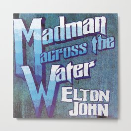Vectorized Illustrated Art Design Madman in Vectored,John-1971 Across the Blue Water by Illustrated,Elton-34980  November 5 Metal Print