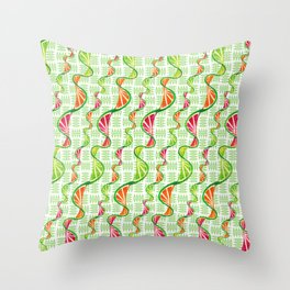twisted citruses Throw Pillow
