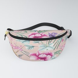 Floral Chinoiserie - Pale Dogwood Fanny Pack