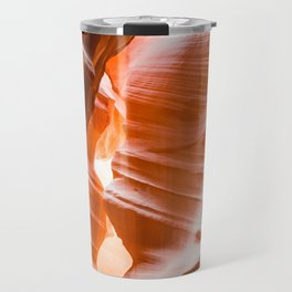 The Passage | Nature Landscape Photography of Wavy Red Rock Formations in Antelope Canyon Arizona Travel Mug