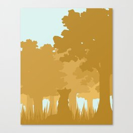Fox under a Tree Canvas Print