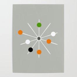 Retro Spoke and Beads - Mid Century Modern Print Poster