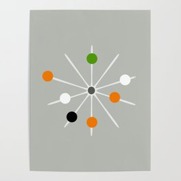 Retro Spoke and Beads - Mid Century Modern Print Poster