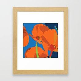 California Poppes Framed Art Print