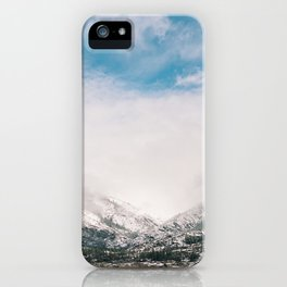 Peaceful Winter Day at Pinecrest Lake iPhone Case