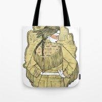 western Tote Bags featuring Western by Lola Beltrán