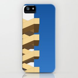 Fire escape stair and clear blue sky iPhone Case