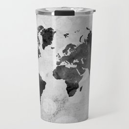 World map - desaturated Travel Mug