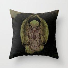 Cthulhu : Cosmic God Of Horror Throw Pillow