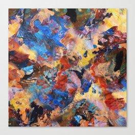 Dark Paint Splash Canvas Print