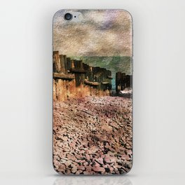 Sea Defence Groynes - watercolour effect. iPhone Skin