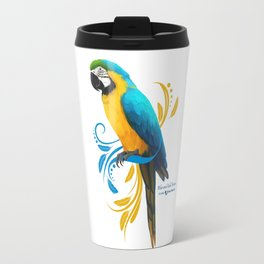 Blue and Gold Macaw Travel Mug