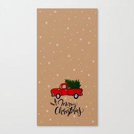 Christmas Truck Canvas Print