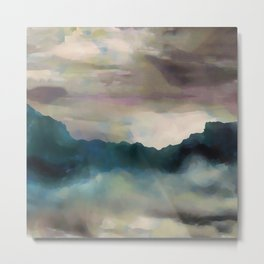 Early Morning Clouds Consume the Mountains Metal Print