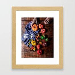 Farm Fresh (Color) Framed Art Print