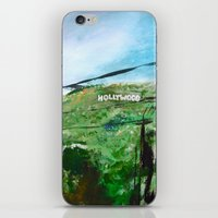 hollywood iPhone & iPod Skins featuring Hollywood by James Peart