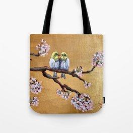Cherry Blossom Chicks Tote Bag