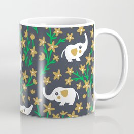 Elephant: Gold Coffee Mug