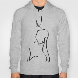 abstract nude Hoody