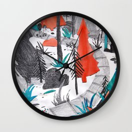 And the Children, They Know - Orange Wall Clock