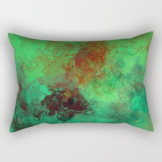 Isolation - Abstract, textured painting Rectangular Pillow