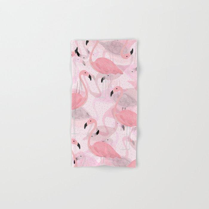 Flamingo Pattern Hand & Bath Towel