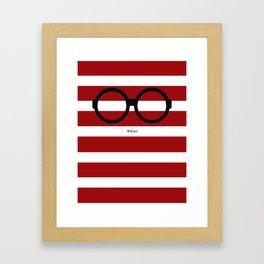Where's Waldo Framed Art Print