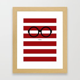 Where's Waldo Framed Art Print