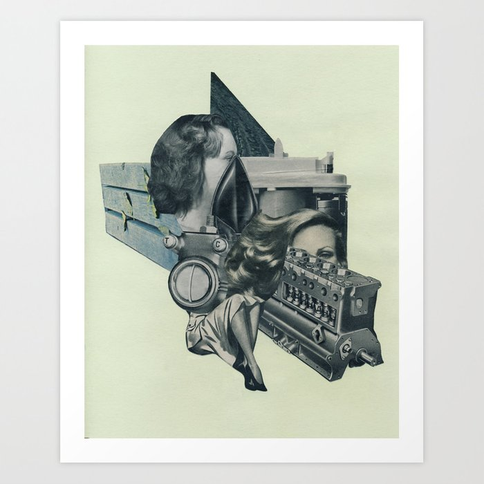 Our Train Has Left The Station Art Print